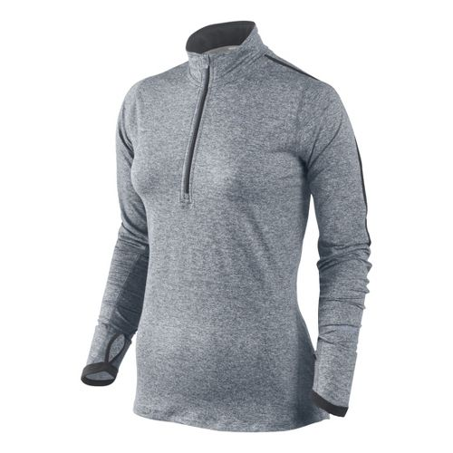 Womens Nike Element Long Sleeve 1/2 Zip Technical Tops - Grey L