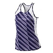 Womens Nike Printed Fast Pace Tank Sleeveless Technical Tops