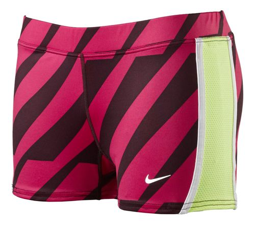 Womens Nike Printed Tempo Boycut Fitted Shorts - Fandago Pink M