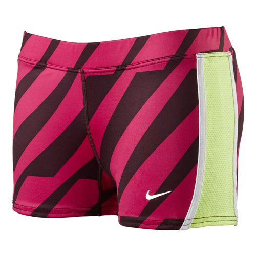Womens Nike Printed Tempo Boycut Fitted Shorts - Fandago Pink XS