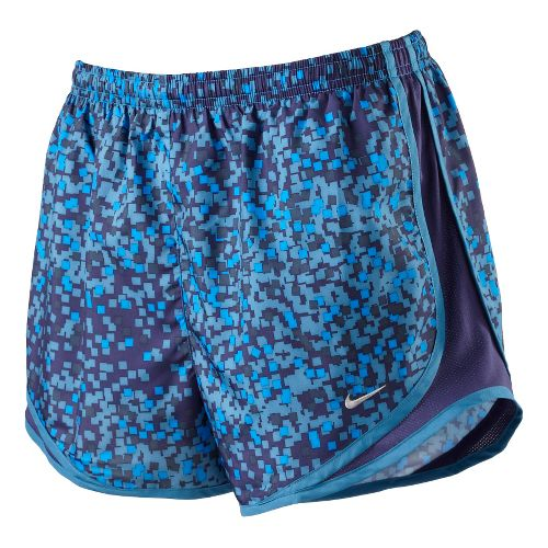 Womens Nike Printed Tempo Track Lined Shorts - Brilliant Blue M