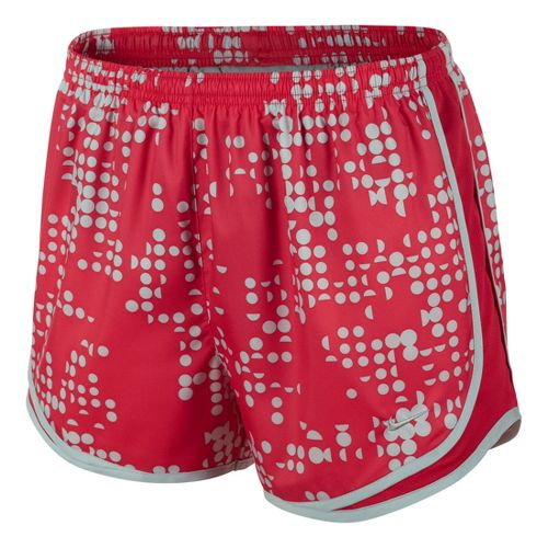 Womens Nike Printed Tempo Track Lined Shorts - Fire Red L
