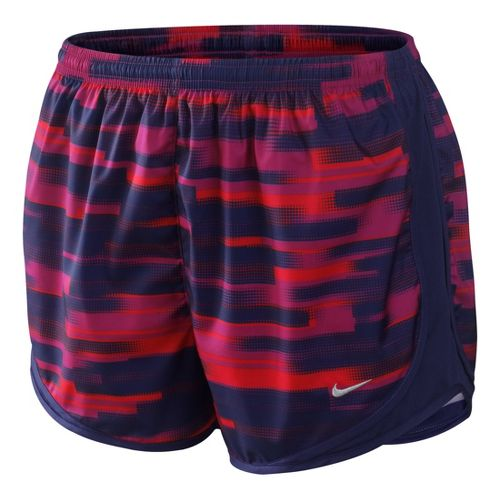 Womens Nike Printed Tempo Track Lined Shorts - Fandago Pink M