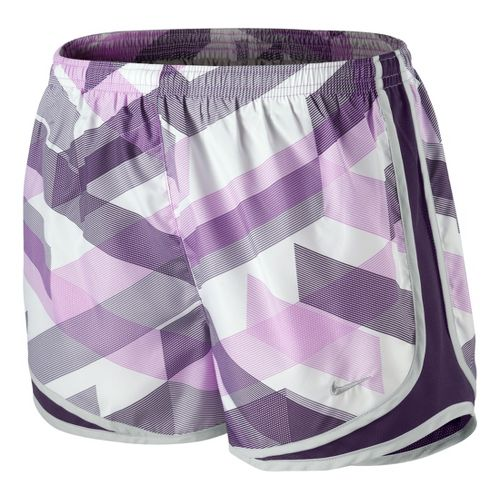 Womens Nike Printed Tempo Track Lined Shorts - Violet/Plum L