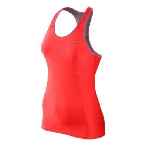 Womens Nike Shaping Long Bra Sport Top - Crimson XL