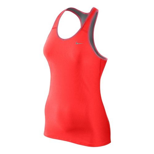 Womens Nike Shaping Long Bra Sport Top - Crimson XS