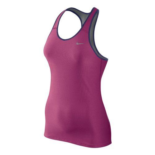 Womens Nike Shaping Long Bra Sport Top - Fandago Pink XS
