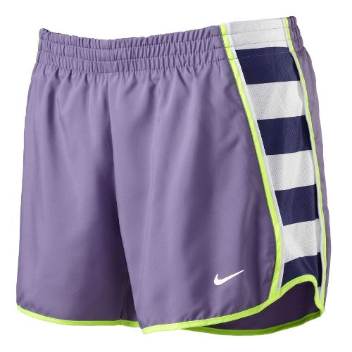 Womens Nike Side Panel Printed Pacer Lined Shorts - Purple XL