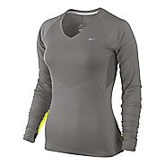 Womens Nike Speed Long Sleeve No Zip Technical Tops