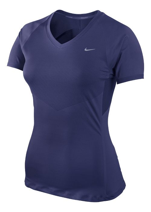 Womens Nike Speed Short Sleeve Technical Tops - Brilliant Blue M