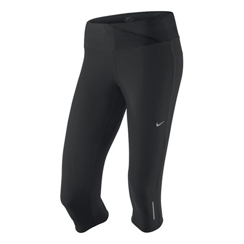 Womens Nike Twisted Capri Tights - Black L