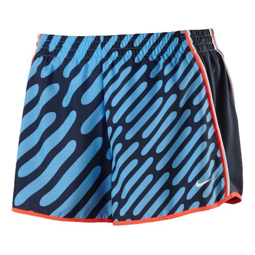 Womens Nike AOP Pacer Lined Shorts - Arctic Blue XS