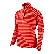 Womens Nike Element Jacquard Half Zip Long Sleeve Technical Tops