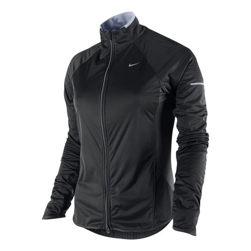 Womens Nike Element Shield Full Zip Running Jackets - Black XS