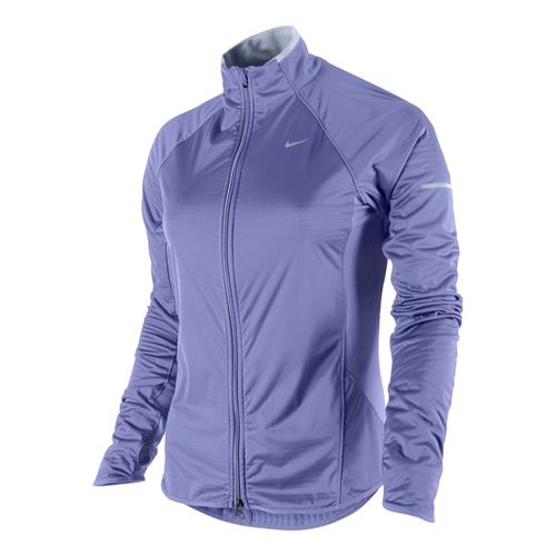 Womens Nike Element Shield Full Zip Running Jackets - Violet M