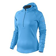 Womens Nike Element Thermal Hoody Long Sleeve 1/2 Zip Technical Tops