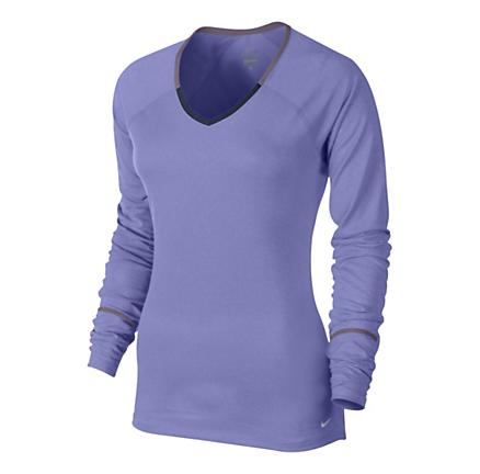Womens Nike Relay Long Sleeve No Zip Technical Tops