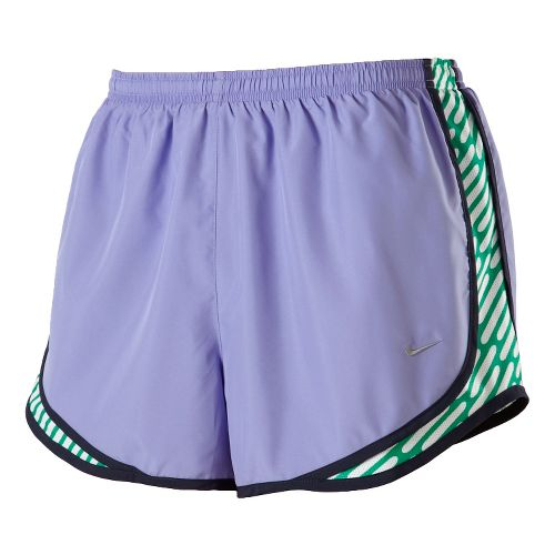Womens Nike Side Panel Printed Tempo Lined Shorts - Violet M