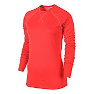 Womens Nike Wool Crew Long Sleeve No Zip Technical Tops