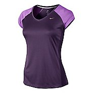 Womens Nike Miler V Neck Top Short Sleeve Technical Tops