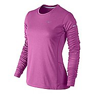 Womens Nike Miler Top Long Sleeve No Zip Technical Tops
