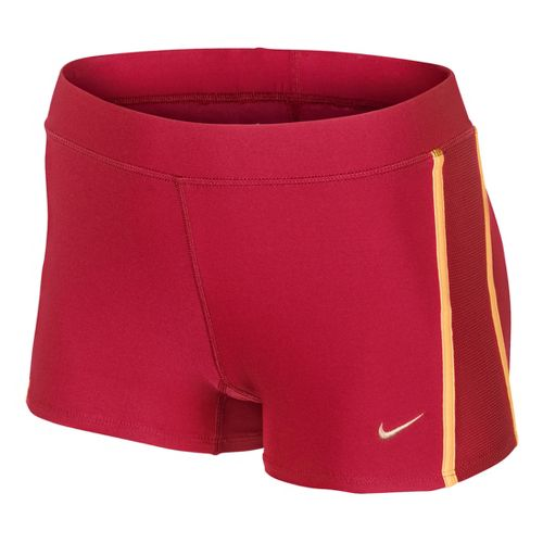 Womens Nike Tempo Boy Fitted Shorts - Fire Red S