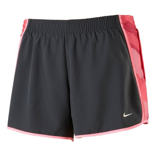 Womens Nike Side Panel Printed Pacer Lined Shorts - Dark Grey/Pink Ice L