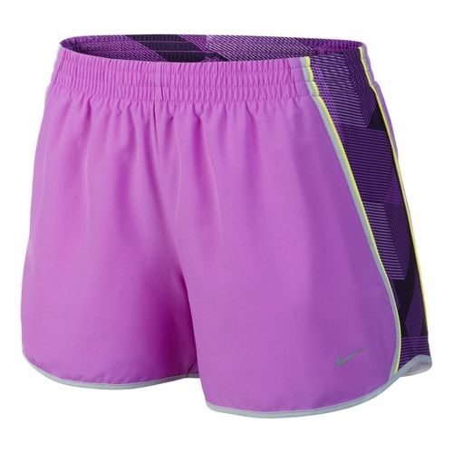 Womens Nike Side Panel Printed Pacer Lined Shorts - Violet L