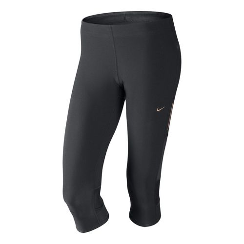 Womens Nike Tech Capri Tights - Dark Grey XL