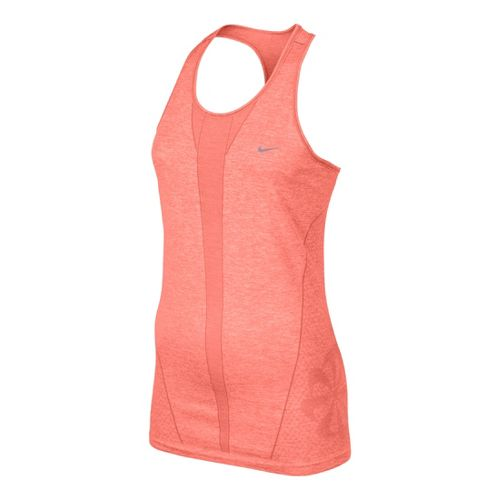 Womens Nike Seamless Tank Technical Tops - Atomic Pink S