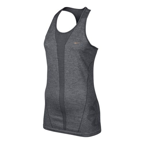 Womens Nike Seamless Tank Technical Tops - Dark Grey L