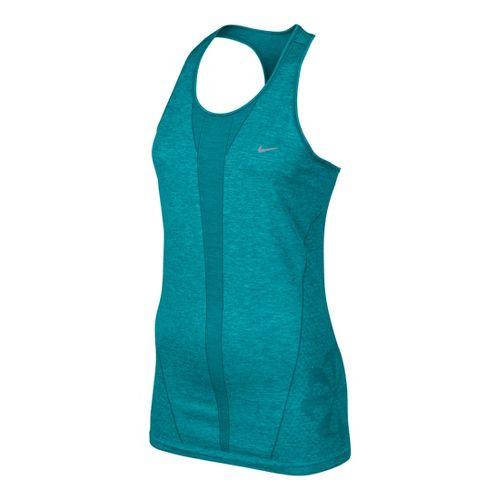 Womens Nike Seamless Tank Technical Tops - Teal XL