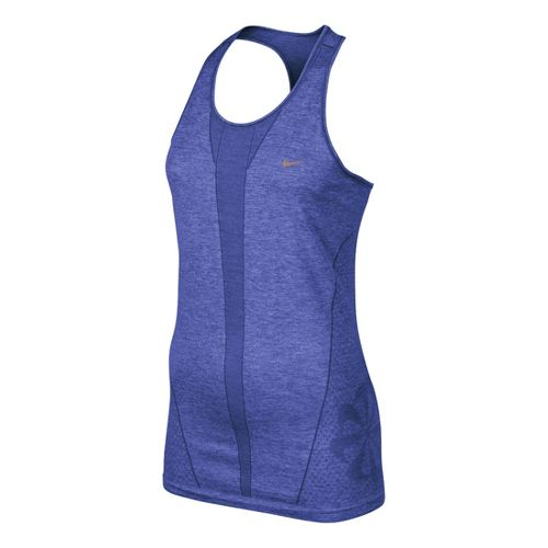 Womens Nike Seamless Tank Technical Tops - Turbo Violet S