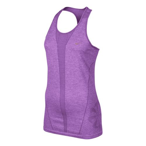 Womens Nike Seamless Tank Technical Tops - Violet L