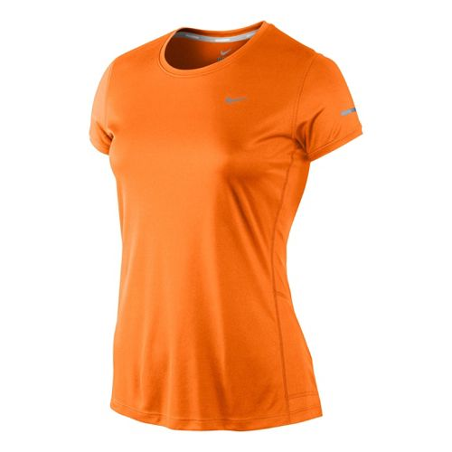 Womens Nike Miler Crew Top Short Sleeve Technical Tops - Citron L