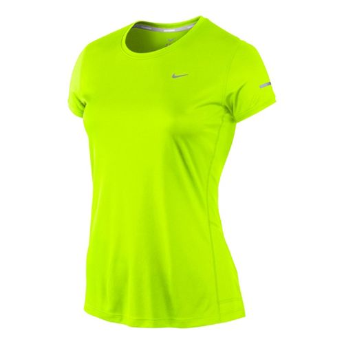 Womens Nike Miler Crew Top Short Sleeve Technical Tops - Electra M
