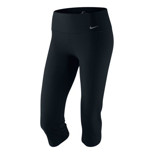 Womens Nike Legend 2.0 Slim Poly Capri Tights - Black L