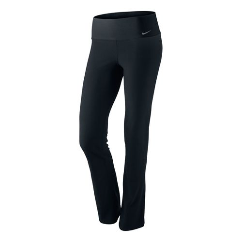 Womens Nike Legend 2.0 Slim Poly Bootleg Tights - Black XL