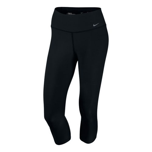 Womens Nike Legend 2.0 TI Poly Capri Tights - Black XL