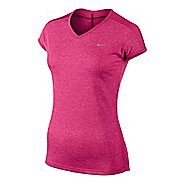 Womens Nike Dri-FIT Touch Tailwind Short Sleeve Technical Tops