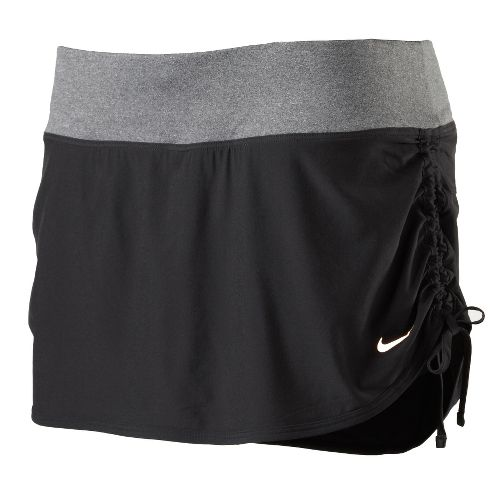 Womens Nike Rival Stretch Woven Skort Fitness Skirts - Black S