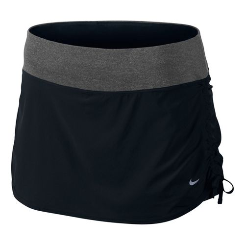 Womens Nike Rival Stretch Woven Skort Fitness Skirts - Black/Black XL