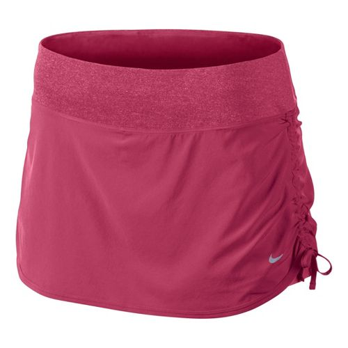 Womens Nike Rival Stretch Woven Skort Fitness Skirts - Cherry XL