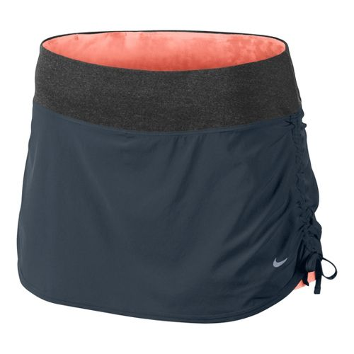 Womens Nike Rival Stretch Woven Skort Fitness Skirts - Ink Blue/Atomic Pink XS