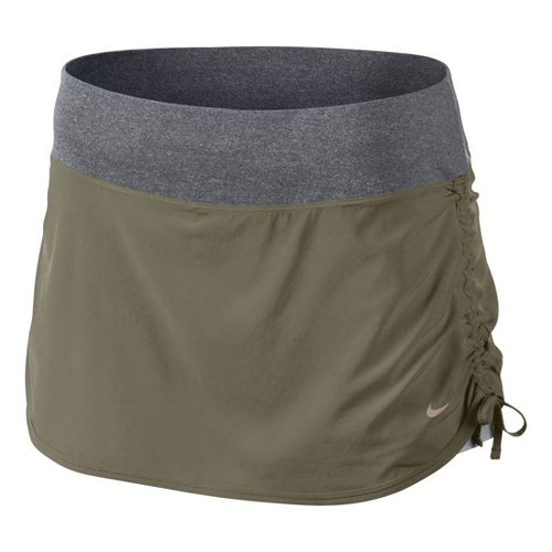 Womens Nike Rival Stretch Woven Skort Fitness Skirts - Olive L