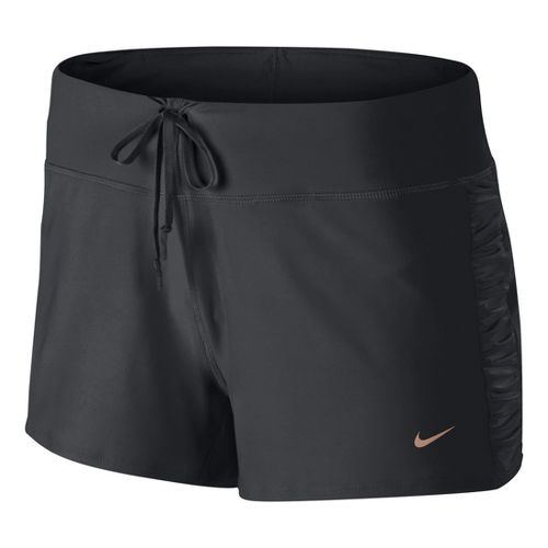 Womens Nike Knit Running Lined Shorts - Dark Grey L