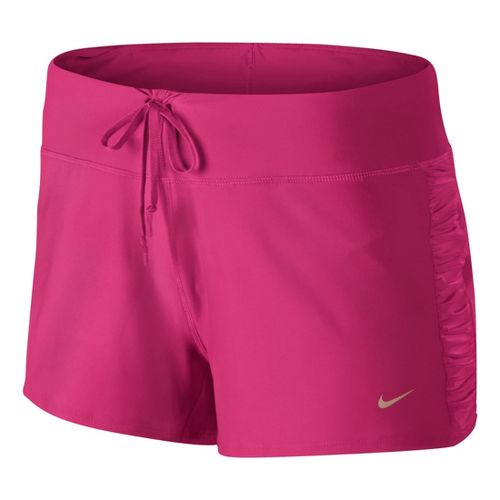 Womens Nike Knit Running Lined Shorts - Pink Shock L