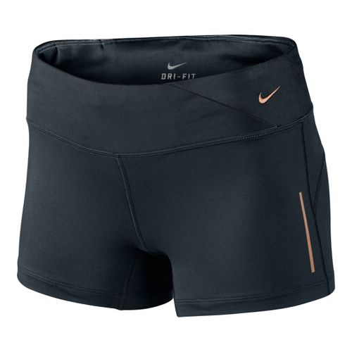 Womens Nike Epic Run Boy Fitted Shorts - Black L