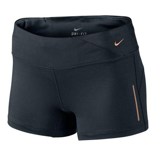 Womens Nike Epic Run Boy Fitted Shorts - Black XS