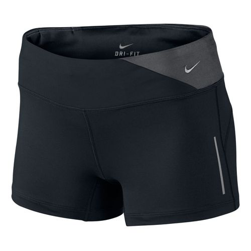 Womens Nike Epic Run Boy Fitted Shorts - Black/Dark Grey S